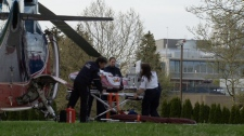 A seven-year-old White Rock girl was airlifted to hospital after an accident in her backyard. Sunday, April 25, 2010. (CTV)