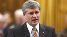 Prime Minister Stephen Harper responds to a question during Question Period in the House of Commons on Parliament Hill in Ottawa, Tuesday, April 27, 2010. (Adrian Wyld / THE CANADIAN PRESS)