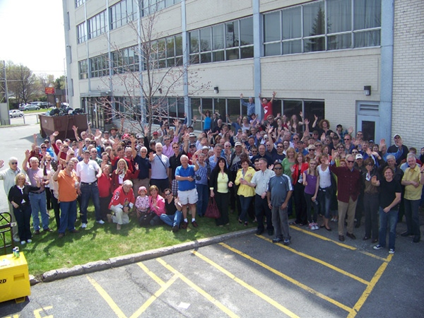 CTV staff, past and present, say goodbye to the old station on Merivale Road, Saturday, April 24, 2010.