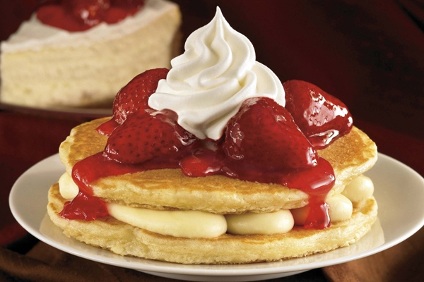 This undated photo provided by IHOP Restaurants shows their Pancake Stackers.  (AP Photo/IHOP Restaurants)