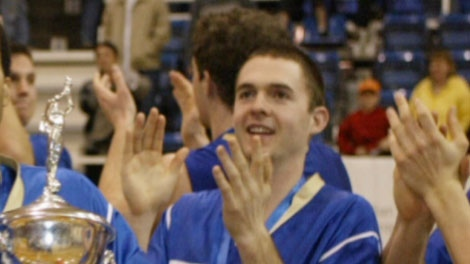 Former Vancouver police officer Peter Hodson is seen with his UBC basketball teammates in this 2003 photo.