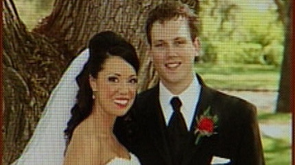 This photograph from Michelle and Joe Labossiere's wedding was taken from their photographer's website.