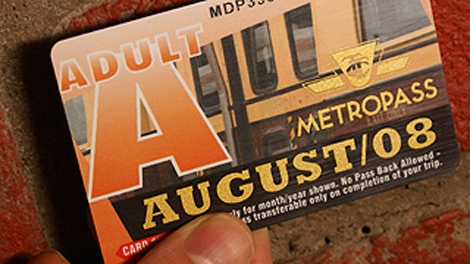 A TTC Metropass is shown in an undated photo. (Maurice Cacho)