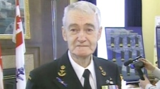 World War II veteran George Aucoin speaks with CTV News in Halifax on Sunday, May 2, 2010.