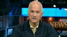NDP Leader Jack Layton speaks with CTV's Question Period from Toronto, on Sunday, May 2, 2010.