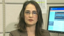 Dr. Andrea Furlan, lead researcher at the Toronto Rehabilitation Institute, speaks with CTV News in Toronto in this undated photo.