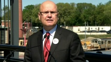 Mayoral candidate Rocco Rossi unveils his plan for 'Transit City Plus' during a press conference, Tuesday, May 4, 2010.