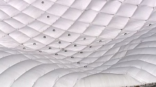 The dome roof at BC Place deflates on May 4, 2010. (CTV)