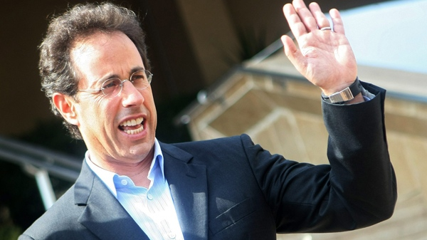 Jerry Seinfeld gestures in Cannes, southeastern France, Monday, Oct. 5, 2009. (AP / Lionel Cironneau)