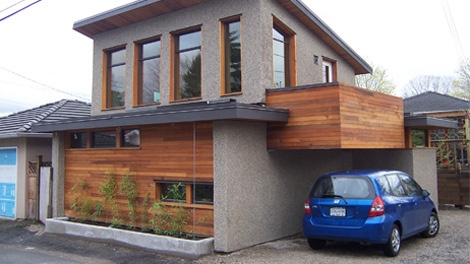 A 710-square-foot laneway house in East Vancouver is being showcased in an open house on Saturday, May 8, 2010. (Lanefab.com)