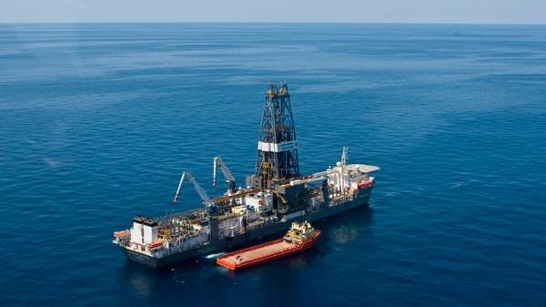 The ultra-deepwater drillship Discoverer Inspiration in the Gulf of Mexico on March 30, 2010. Even as the massive oil spill in the Gulf of Mexico has raised fears about the safety of offshore drilling, Chevron Canada Ltd. is going ahead with plans this week to drill one of the deepest offshore oil wells in the world off the coast of Newfoundland and Labrador. (AP / Houston Chronicle, Melissa Phillip )