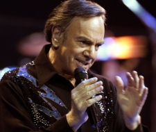 Neil Diamond performs at Madison Square Garden in New York on Aug. 18, 2005. (AP / Kathy Willens)