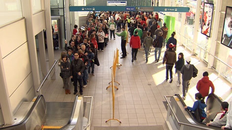 A record number of passengers rode SkyTrain during the 2010 Games. (CTV file image)