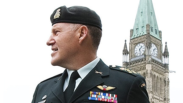 Chief of the Defence Staff Walter Natynczyk is seen leaving a press conference on Parliament Hill in Ottawa on Friday May 14, 2010. (ean Kilpatrick / CANADIAN PRESS)