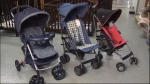 A baby stroller was used in a series of vehicle break-ins. (Credit: Chris Olsen)