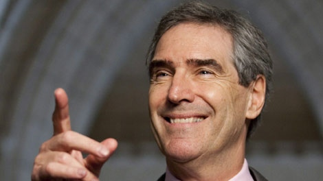 Liberal leader Micheal Ignatieff speaks to reporters following a Liberal caucus meeting on Parliament Hill in Ottawa on Wednesday May 5, 2010. (THE CANADIAN PRESS/Sean Kilpatrick)
