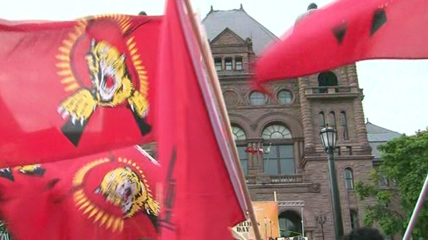 Hundreds of Toronto Tamils are expected at Queen's Park Tuesday evening, May 18, 2010.