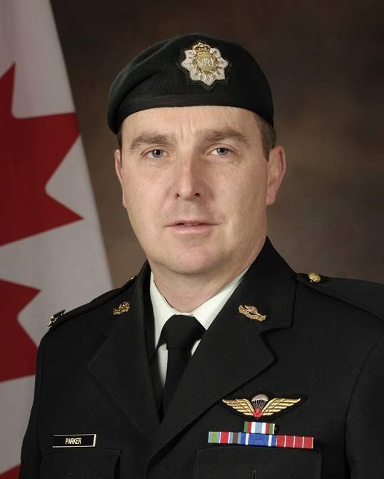 Col. Geoff Parker is shown in this handout photo made available by the Department of National Defence.