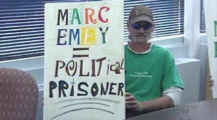 Pot protestor
