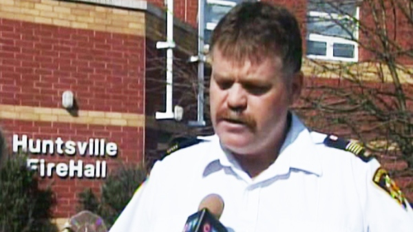 Huntsville, Ont., Fire Chief Steve Hernen speaks to CTV News in this undated photo.