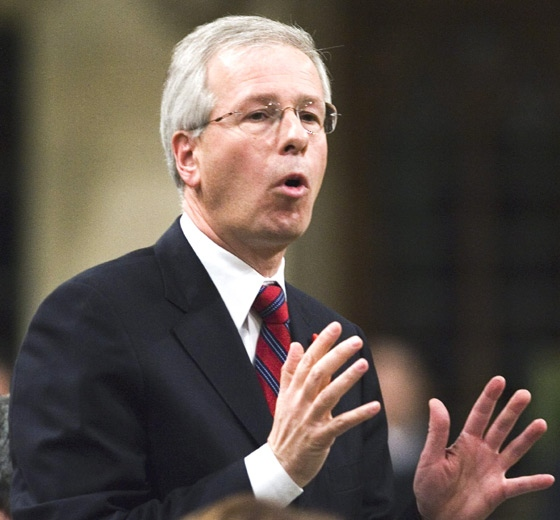 Liberal Leader Stephane Dion stands during question period to speak in the House of Commons on Parliament Hill in Ottawa, Monday, Nov. 26, 2007. (Fred Chartrand / THE CANADIAN PRESS)