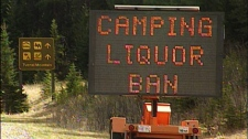 Parks Canada imposed an alcohol ban at three national parks in B.C. for the Victoria Day weekend. May 22, 2010. (CTV)