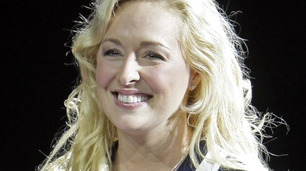Country singer Mindy McCready performs in Nashville, Tenn., Nov. 14, 2008. (AP / Mark Humphrey)