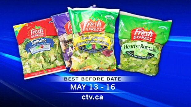 The Canadian Food Inspection Agency is warning consumers to avoid Fresh Express brand romaine lettuce-based salads because they may be contaminated with salmonella.