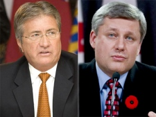 N.L. Premier Danny Williams and Prime Minister Stephen Harper, seen in this composite image, have engaged in public feud over the past year.
