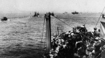 British soldiers leave Dunkirk, France aboard all manner of ships and small boats in this June 1940 photo. (AP Photo)