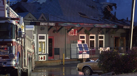"The Delta, B.C., pub featured in the 1988 Oscar-winning Jodie Foster film ""The Accused"" has suffered extensive damage after an overnight fire. May 27, 2010. (CTV)"