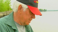 Maurice Noel, who has cast his line into the St. Lawrence river near Montreal for decades, speaks with CTV News in this undated photo.