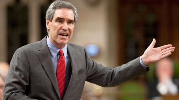 Liberal Leader Michael Ignatieff questions the government during Question Period in the House of Commons on Parliament Hill in Ottawa, Wednesday May 26, 2010. (Adrian Wyld / THE CANADIAN PRESS)
