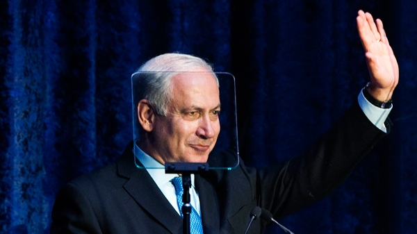 Israel Prime Minister Benjamin Netanyahu waves after speaking at a United Jewish Appeal Walk with Israel event in Toronto on Sunday, May 30, 2010. (THE CANADIAN PRESS/Nathan Denette)
