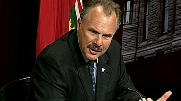 Environmental Commissioner Gord Miller speaks during a press conference at Queen's Park in Toronto, Monday, May 31, 2010.