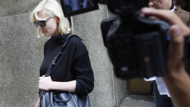 Kirsten Dunst exits Manhattan criminal court in New York, Tuesday, June 1, 2010. (AP / Seth Wenig)