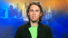 Greg Leuch, the 25-year-old creator of 'Shaved Bieber' speaks to CTV's Canada AM from New York.