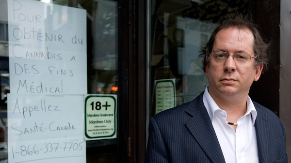 Director of the Montreal Compassion Centre Marc-Boris St-Maurice stands outside the cannabis club, in Montreal, Thursday, June 03, 2010. (THE CANADIAN PRESS / Graham Hughes)