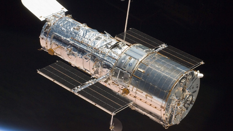 This image provided by NASA shows the Hubble Space Telescope after its release from the Space Shuttle Atlantis on May 19, 2009. (AP Photo/NASA)
