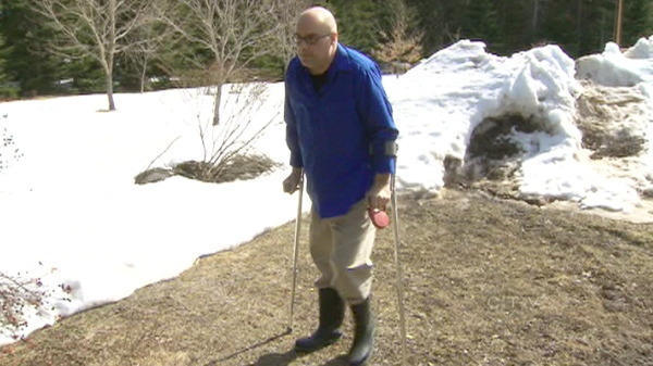 When CTV News first talked to Christopher  Alchenbrack in early March, he walked with effort using two canes, suffered constant fatigue and bouts of vision loss.