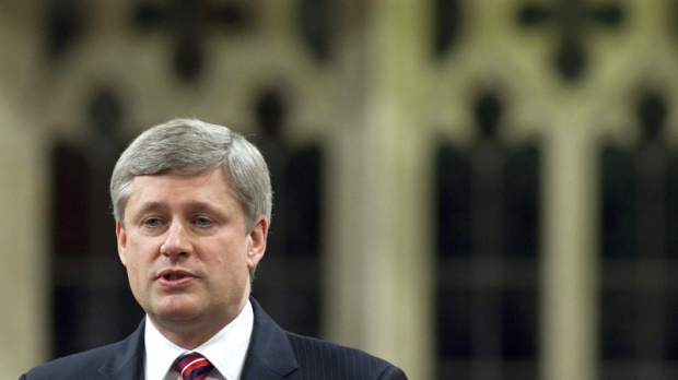 Prime Minister Stephen Harper responds to a question during Question Period in the House of Commons on Parliament Hill in Ottawa, Tuesday, June 8, 2010. (Adrian Wyld / THE CANADIAN PRESS)