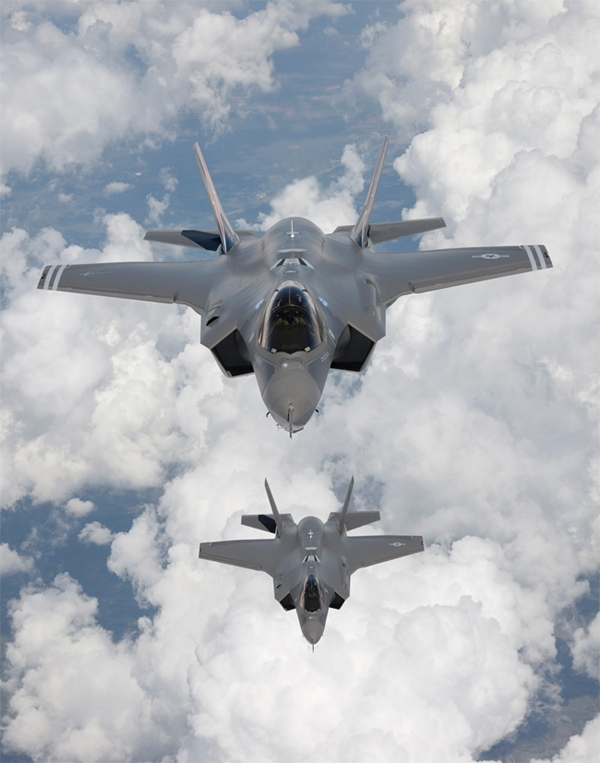 F-35 Lightning II is seen in this image courtesy the Lockheed Martin Corporation.