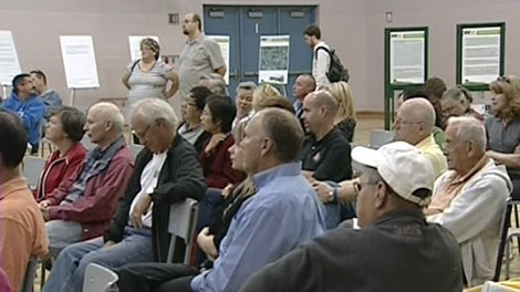 Residents attend a question and answer session about the Carp dump, Tuesday, June 8, 2010.