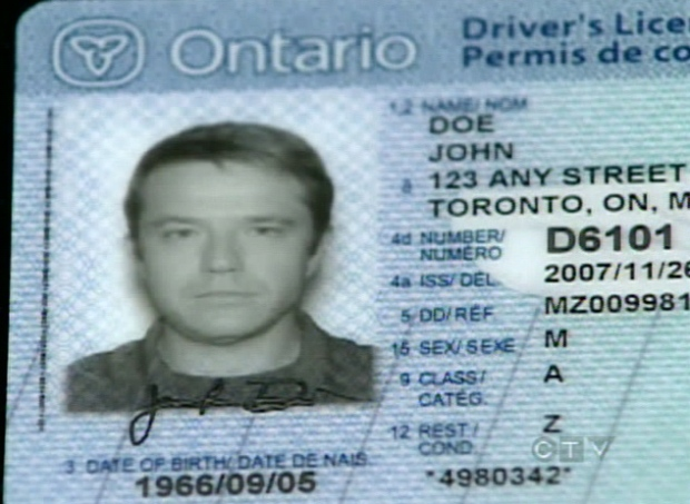 Ontario's new high-tech drivers licence is seen on display at a Ministry of Transportation press conference in Toronto on Friday, Dec. 7, 2007.