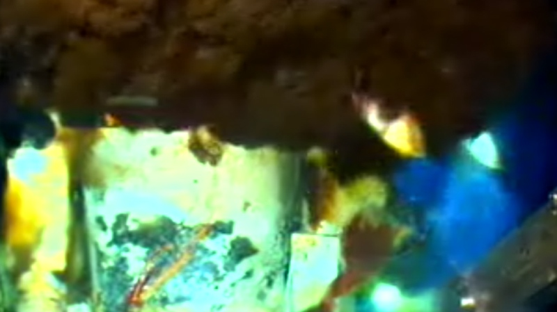 This image from video provided by BP PLC shows the oil leak in the Gulf of Mexico, Friday afternoon, June 11, 2010.