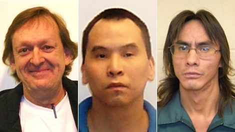 James Leo Gracie, Mervin Lynn Walkus and Joseph Neil Johnny all recently completed their sentences and are currently residing at halfway houses in Vancouver. (VPD)