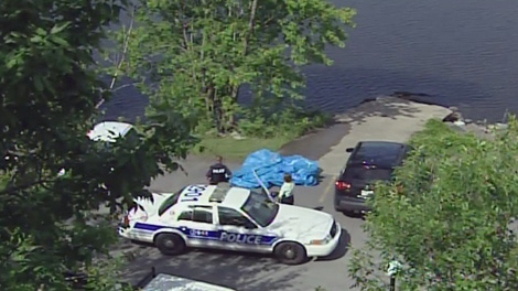 A man's body was pulled from the Ottawa River near the Ottawa Rowing Club, Friday, June 11, 2010.