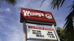 Wendy's advertises a meal in Miami on Monday, March 1, 2010. (AP / Lynne Sladky)