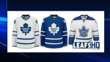 New Maple Leafs' jersey are unveiled for the 2010/2011 season.