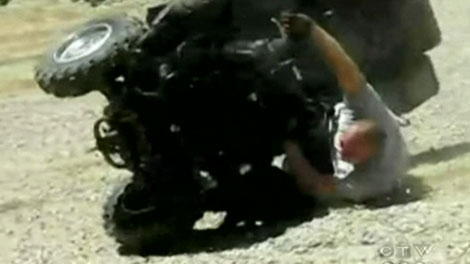 File footage of an ATV accident